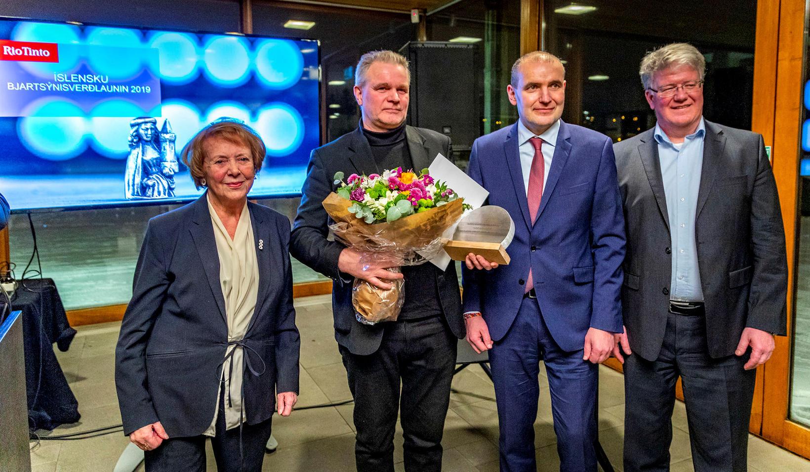 Hildur Guðnadóttir, tónskáld og sellóleikari,hlaut Íslensku bjartsýnisverðlaunin 2019 sem Guðni …