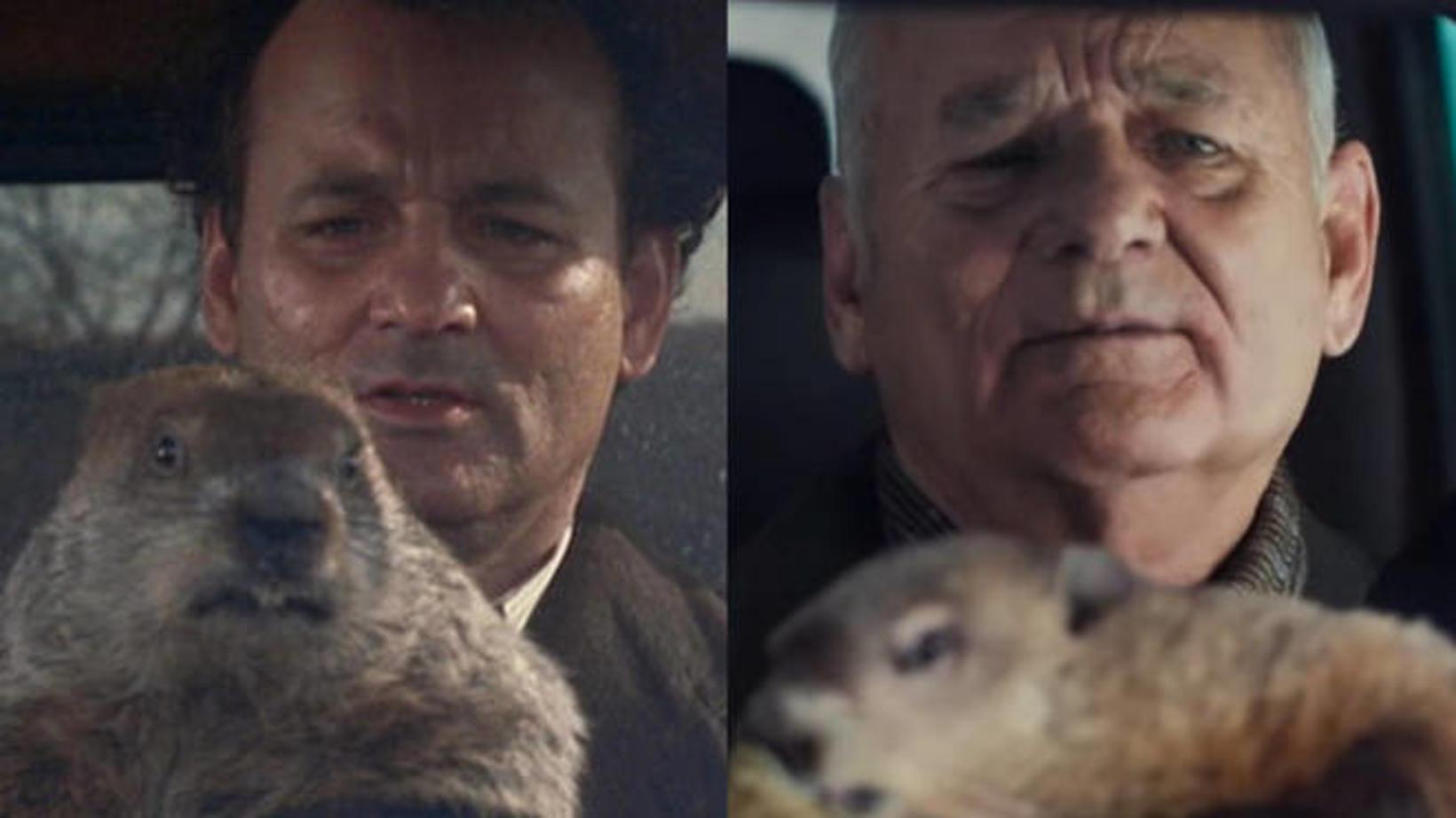 Leikarinn Bill Murray endurtekur hlutverk sitt í kvikmyndinni Groundhog Day …