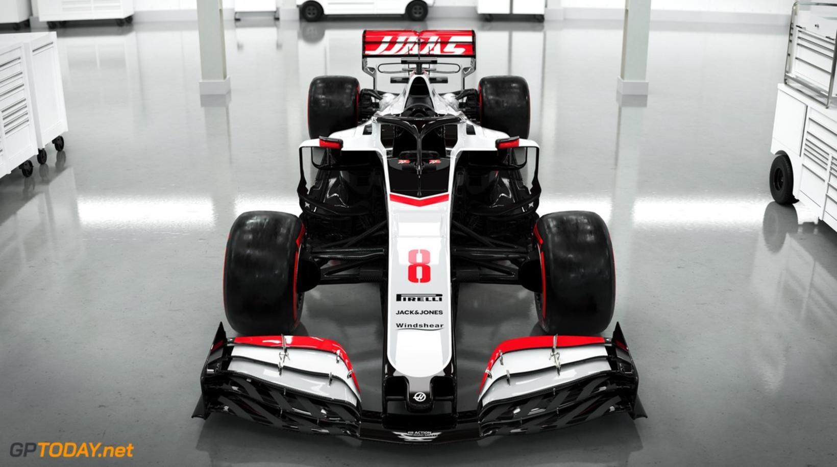 Haas-bíllinn á 2020 keppnistíðinni.