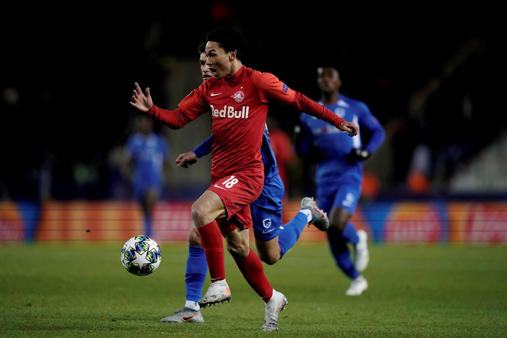 Japanski sóknarmaðurinn Takumi Minamino er kominn til Liverpool frá Salzburg …