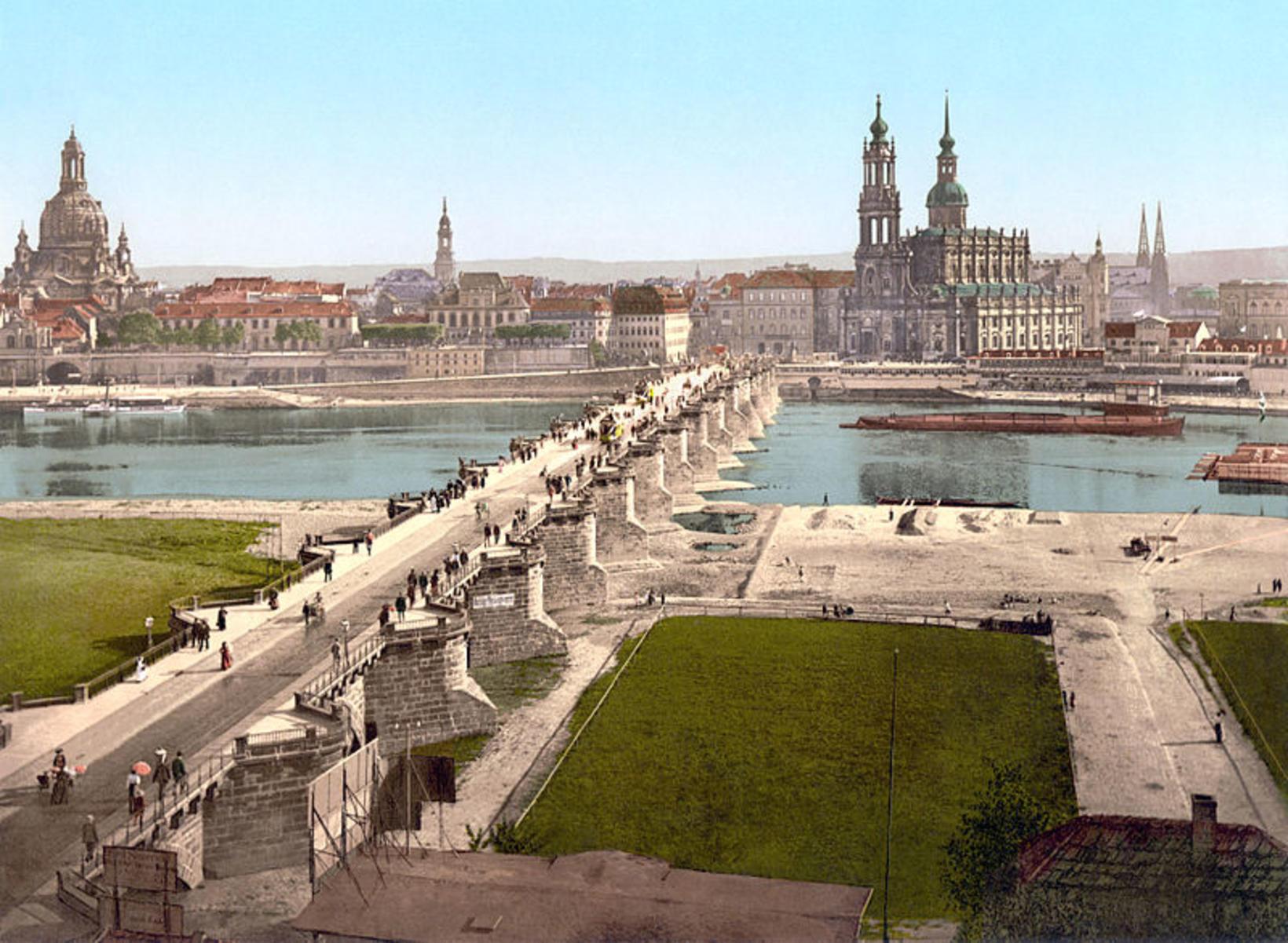 Dresden upp úr 1890.