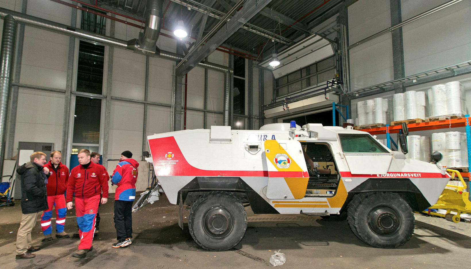 An armored vehicle was taken into use in Kjalarnes.