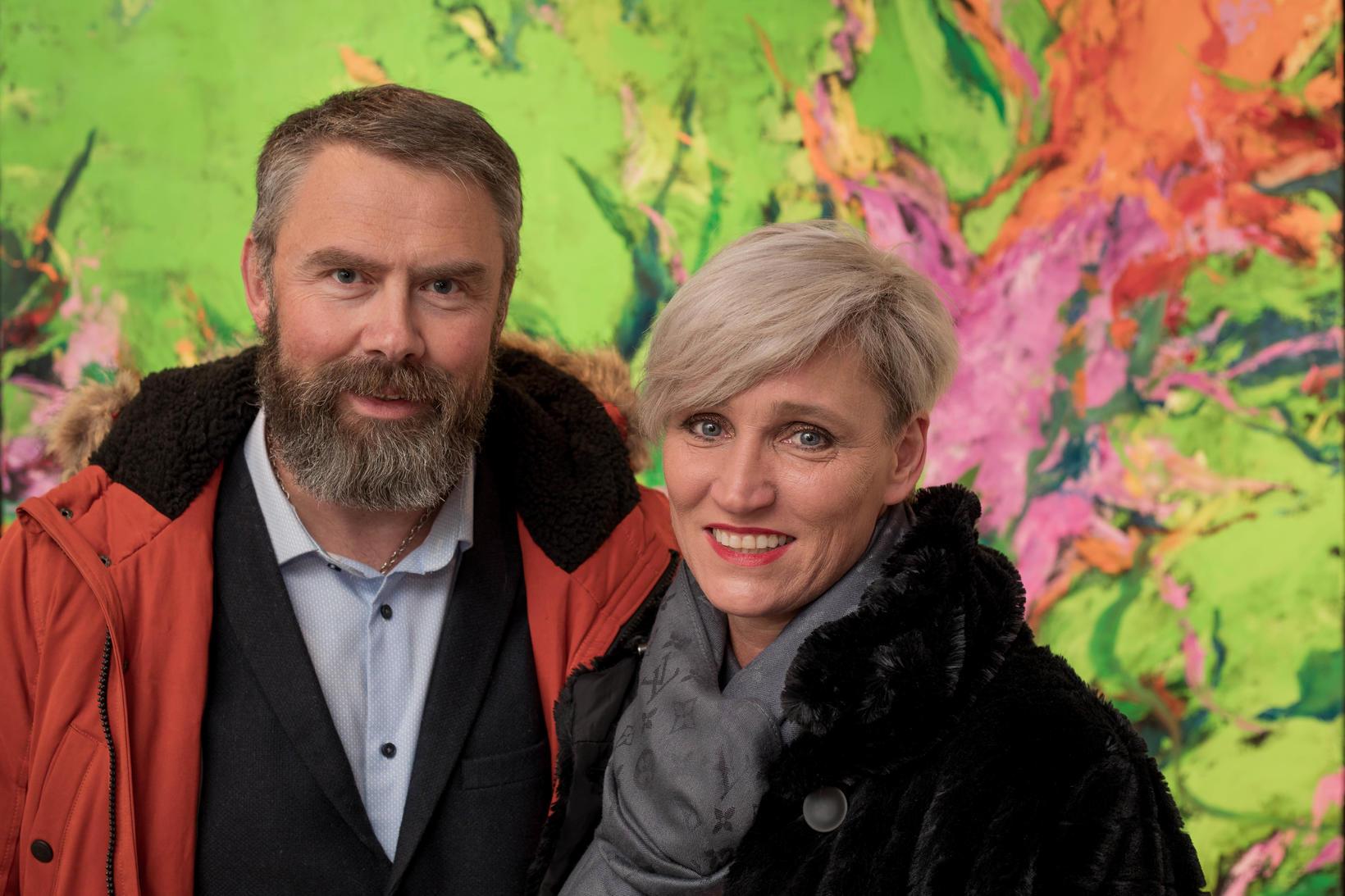 Gunnar Biering Agnarsson og Anna Guðrún Halldórsdóttir.
