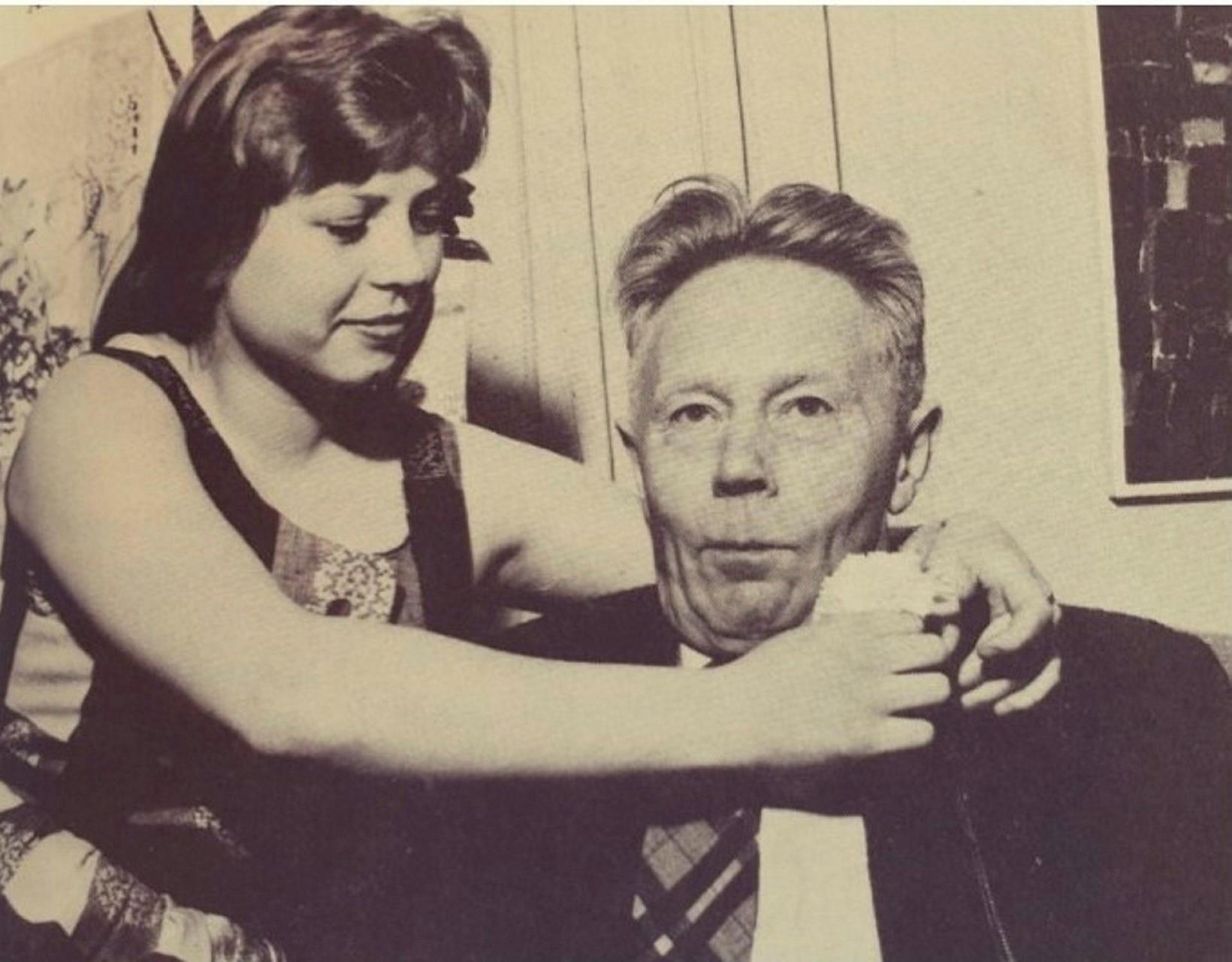 Helga Jóna Ásbjarnardóttir og Þórbergur Þórðarson.
