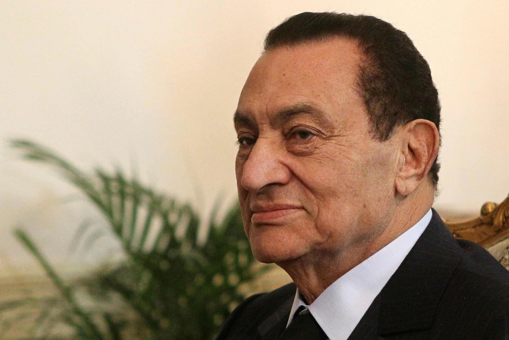 Hosni Mubarak árið 2010.