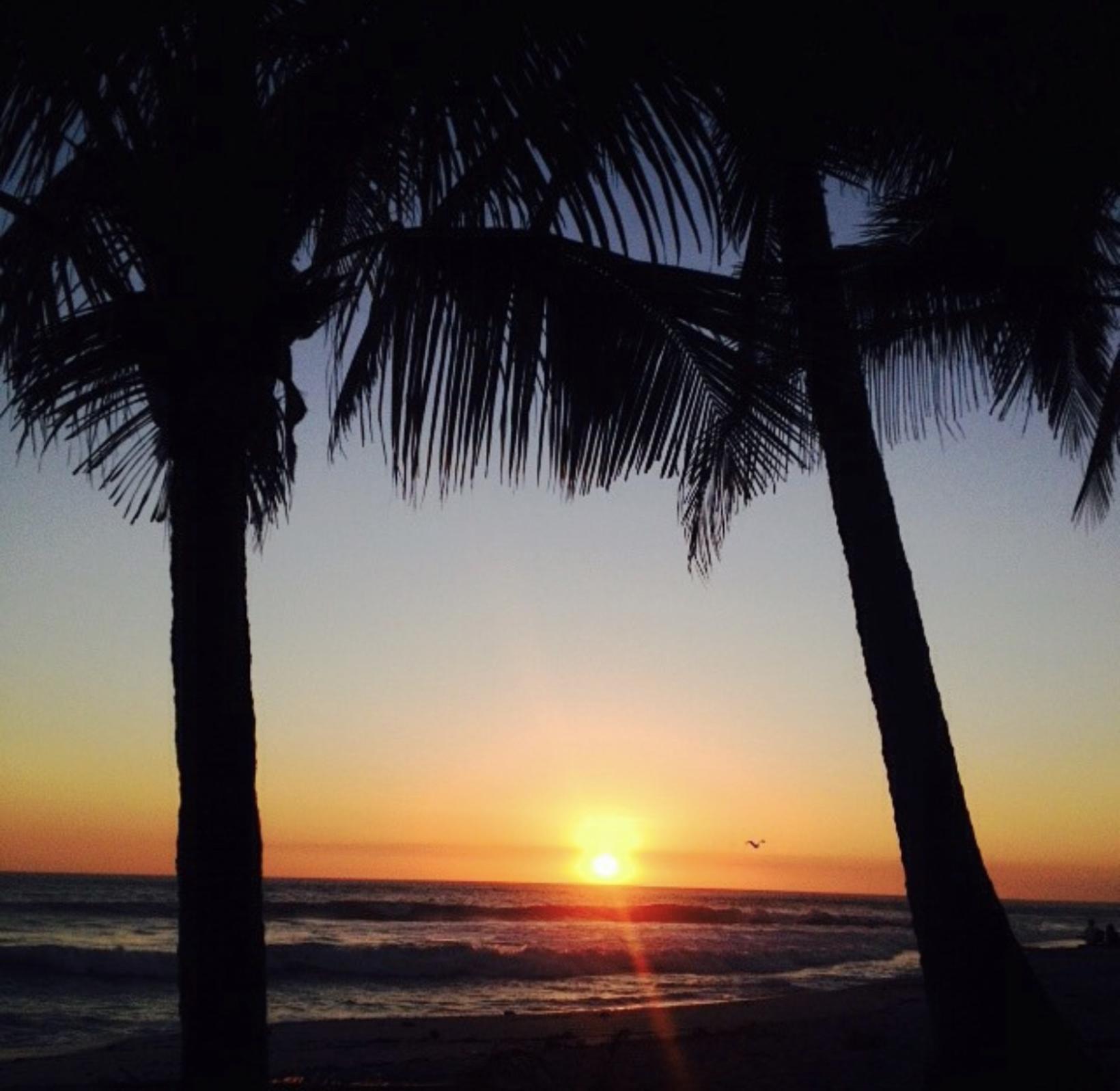Sólsetur á playa Flamingo - Guanacaste-svæðinu.