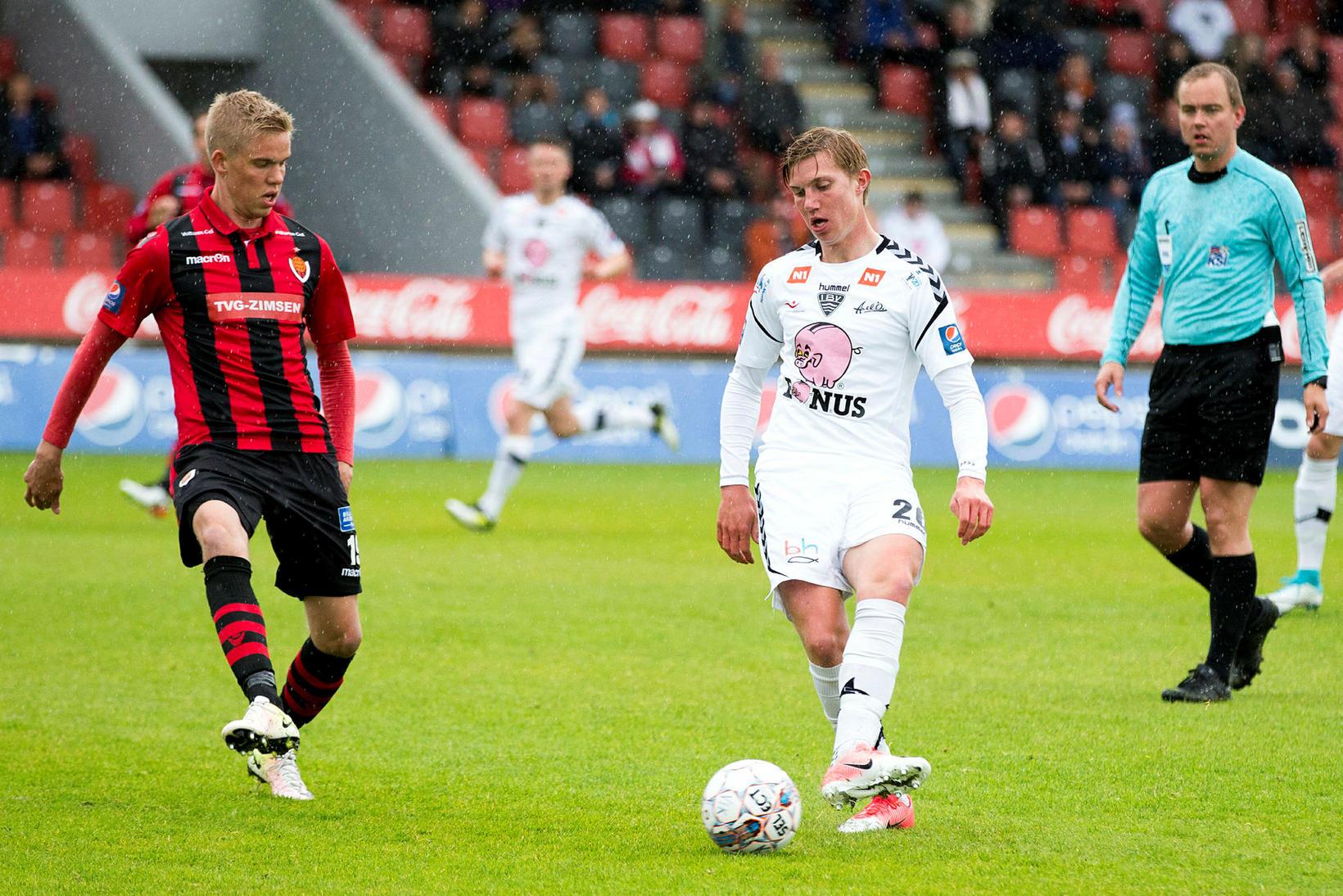 Felix Örn Friðriksson skoraði tvö fyrir Eyjamenn í dag.