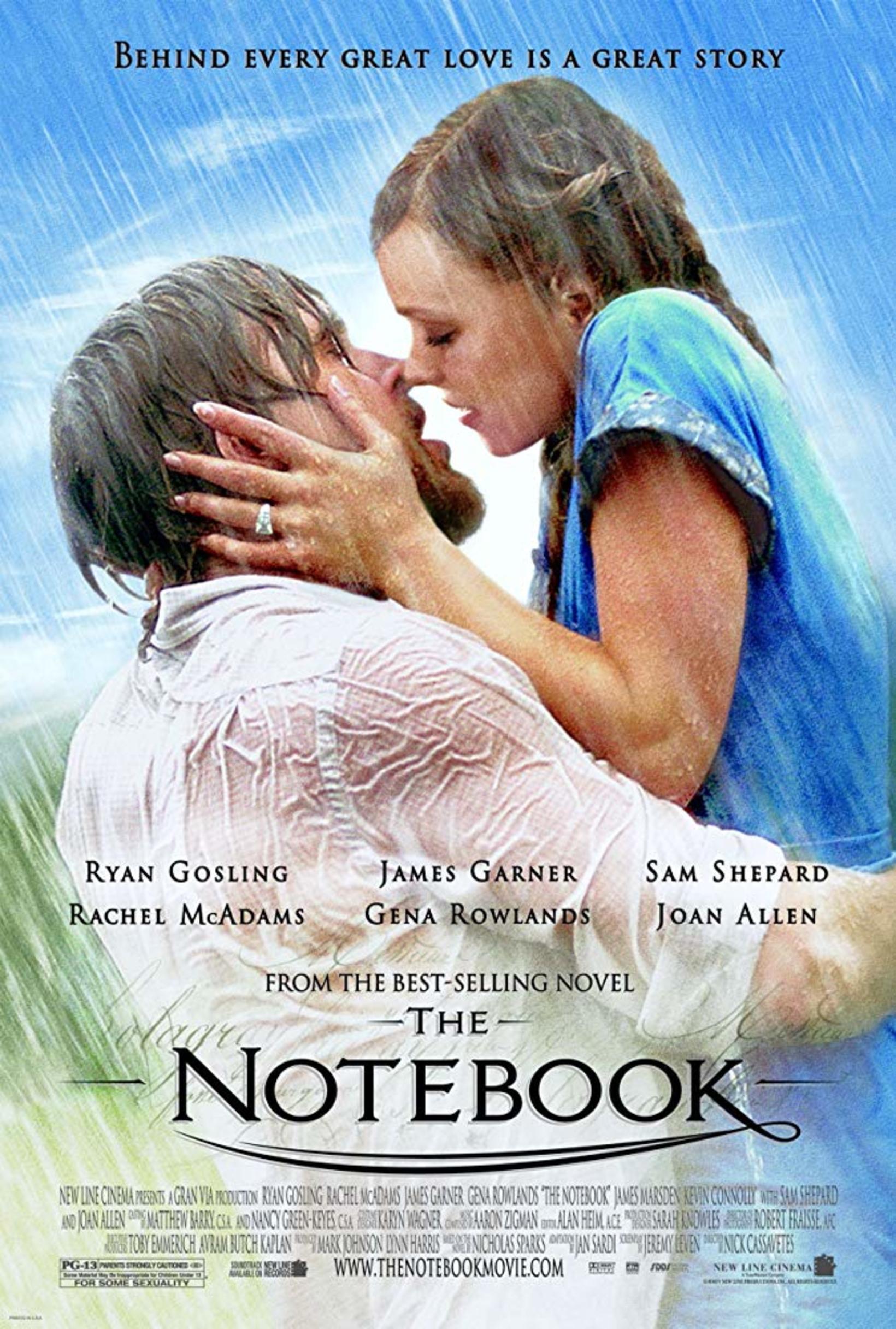 Ryan Gosling fór með aðalhlutverkið í The Notebook ásam Rachel …