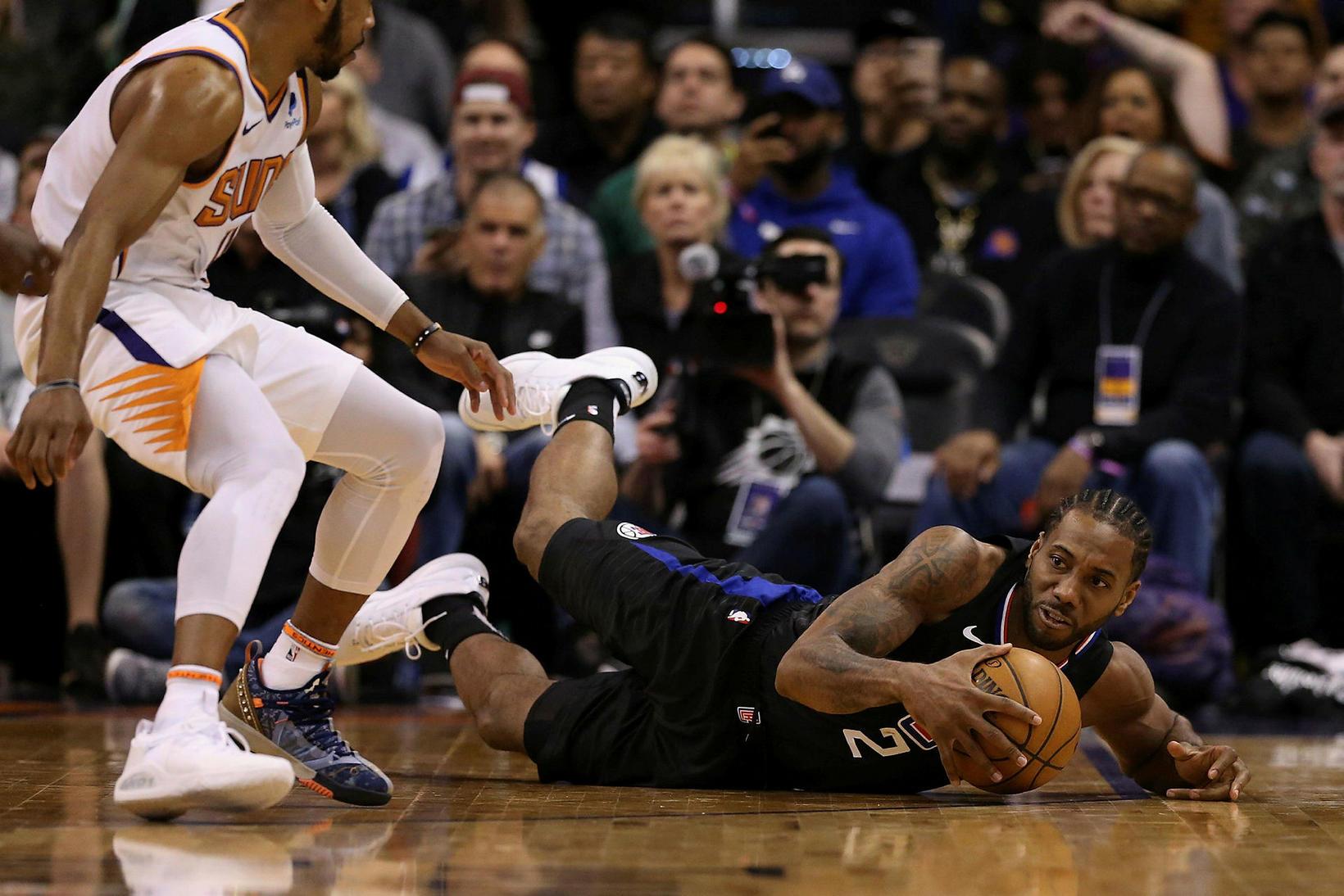 Kawhi Leonard skilaði tvöfaldri tvennu fyrir LA Clippers í nótt.