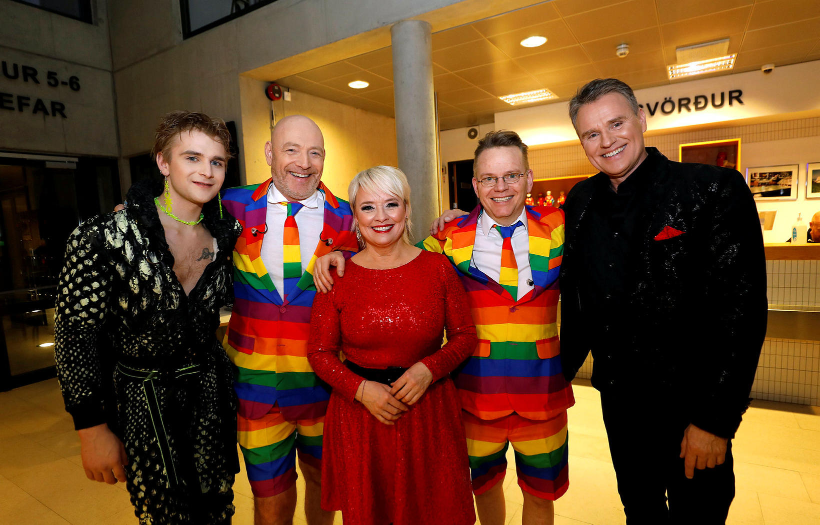 Klemens, Felix Bergsson, Sigríður Beinteinsdóttir, Gunnar Helgason og Grétar Örvarsson.