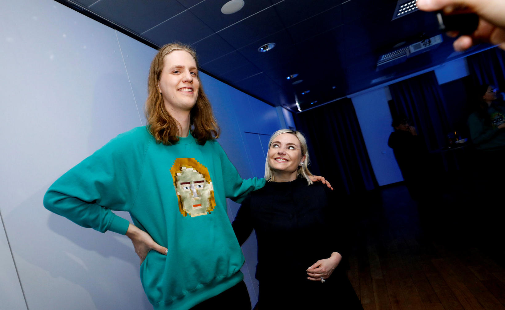 Daði Freyr Pétursson og Lilja Alfreðsdóttir.
