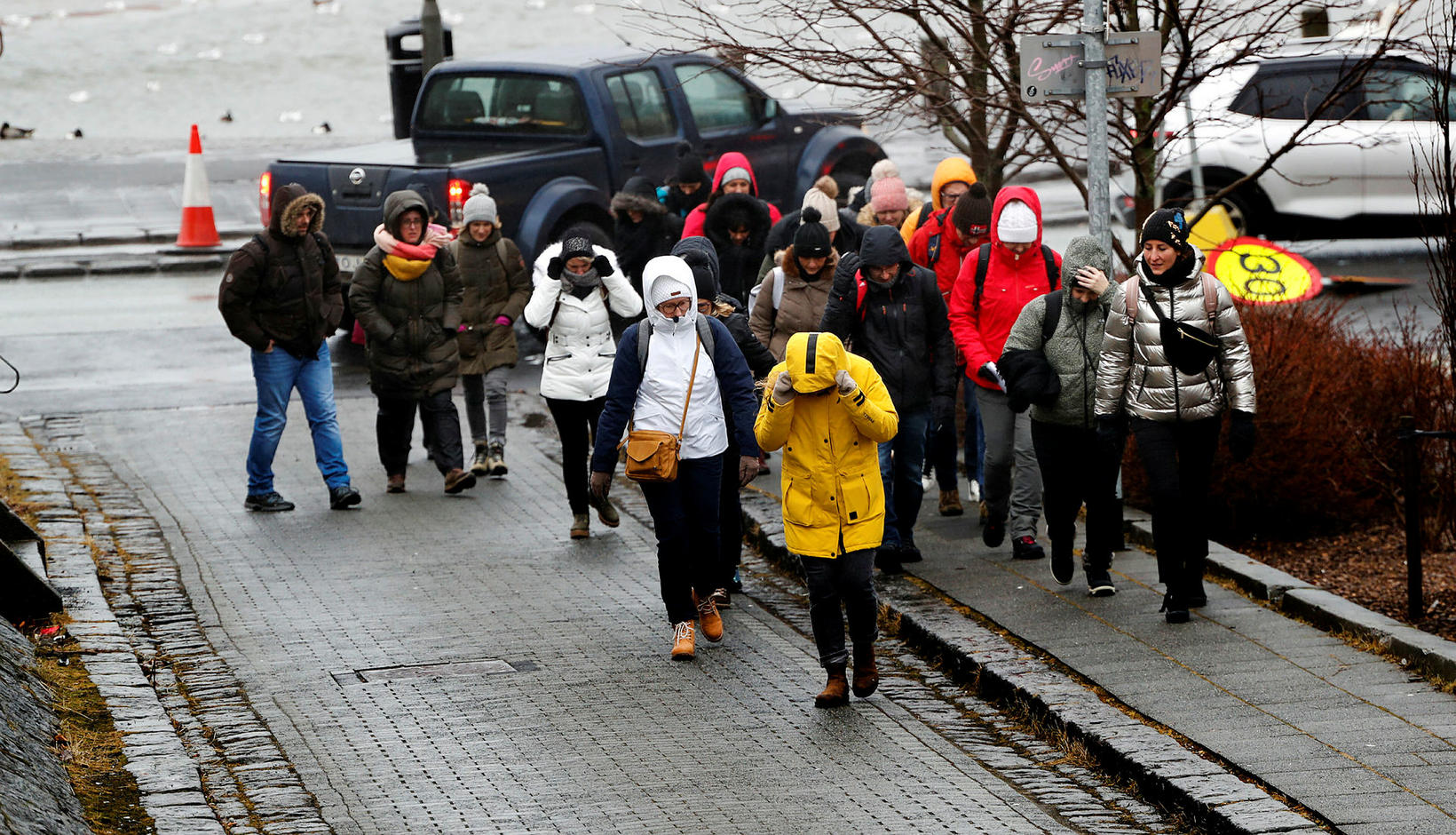 Foreign tourists in Iceland.