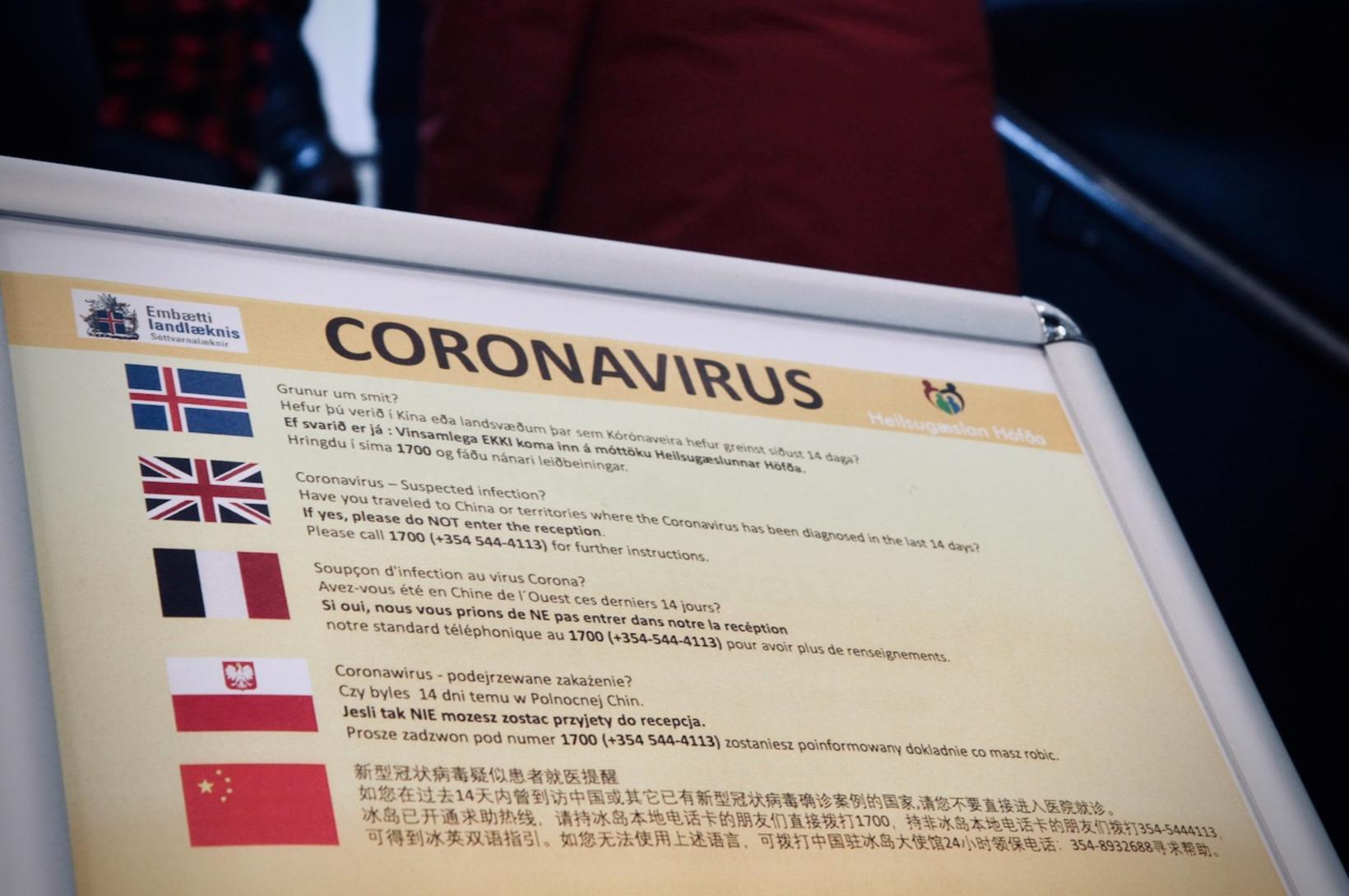 Leiðbeiningar til fólks um kórónuveira COVID-19
