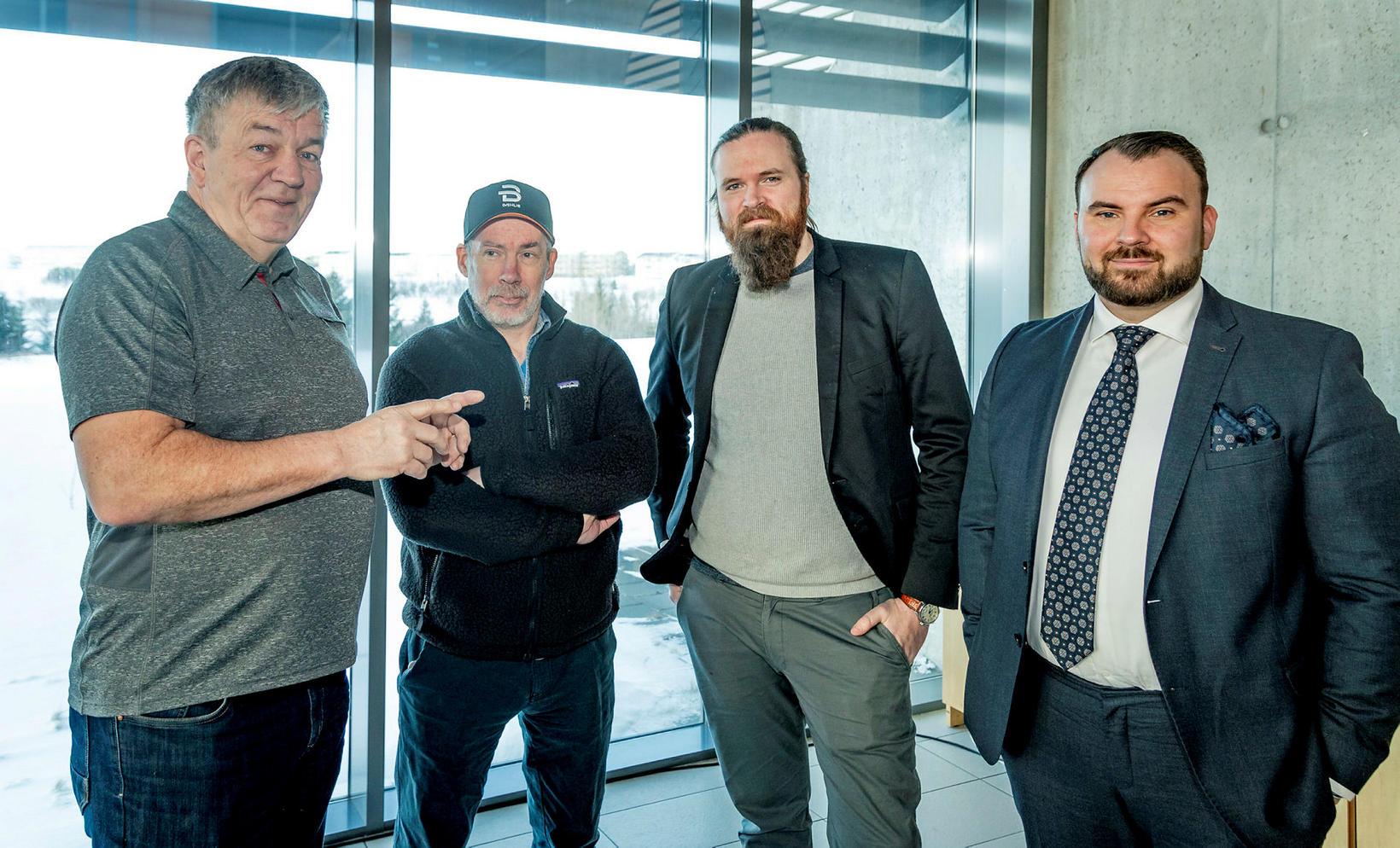 Halldór Hreinsson, Ásmundur Þórðarson, Andri Stanley og Jón Kristinn Jónsson.