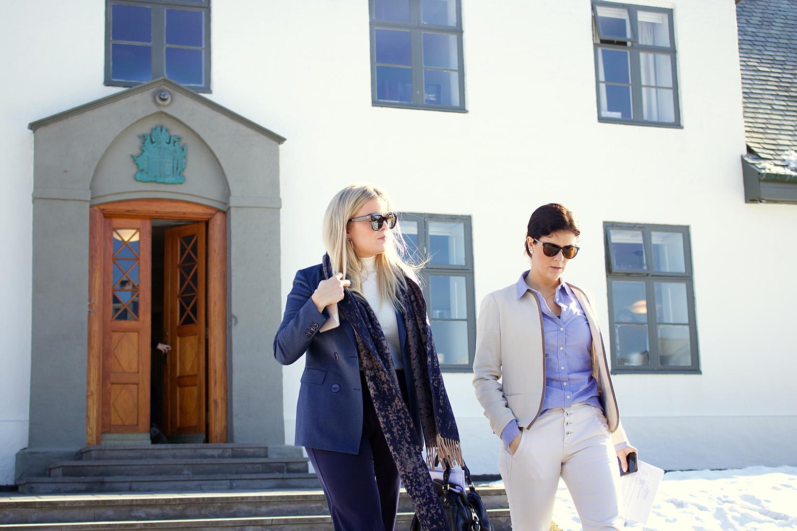 Áslaug Arna Sigurbjörnsdóttir dómsmálaráðherra og Þórdís Kolbrún Reykfjörð Gylfadóttir ferðamálaráðherra …