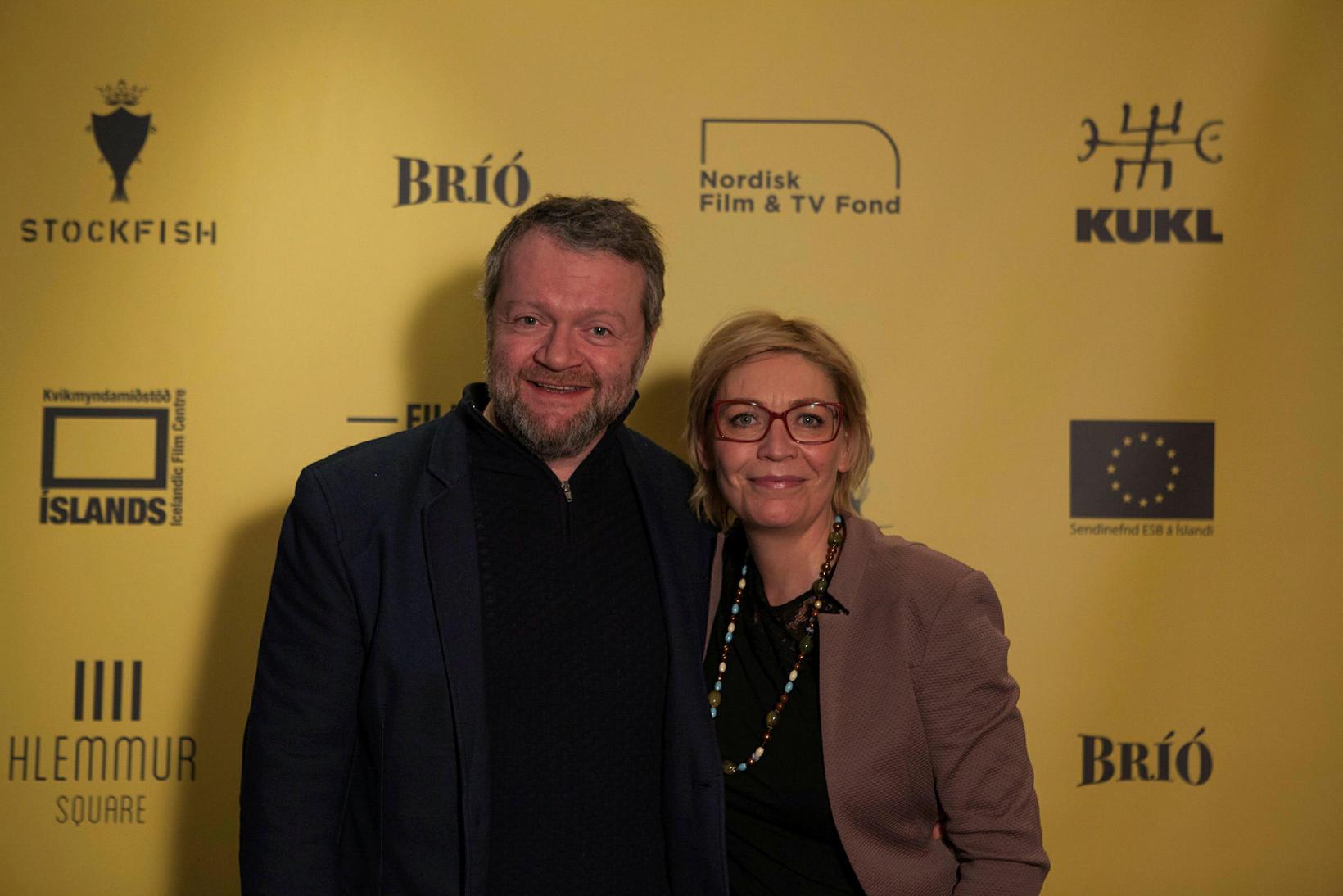 Börkur Gunnarsson og Linda Blöndal.