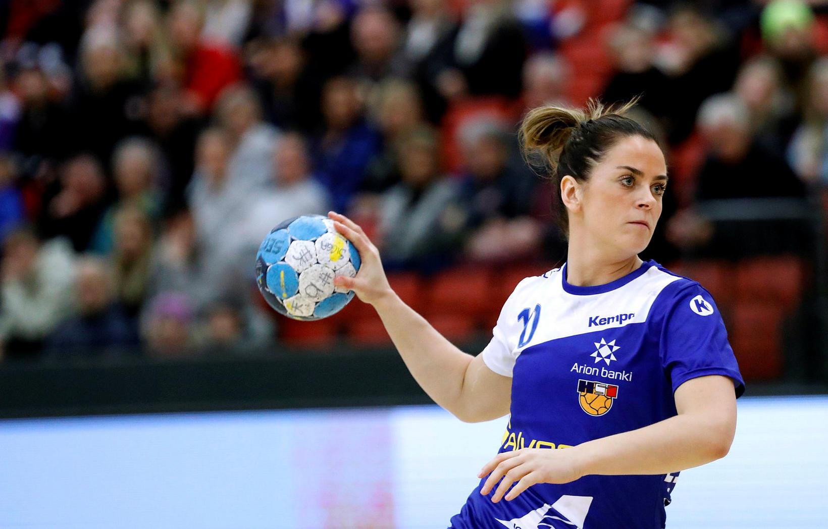 Karen Knútsdóttir hefur leikið með íslenska landsliðinu síðustu ár.