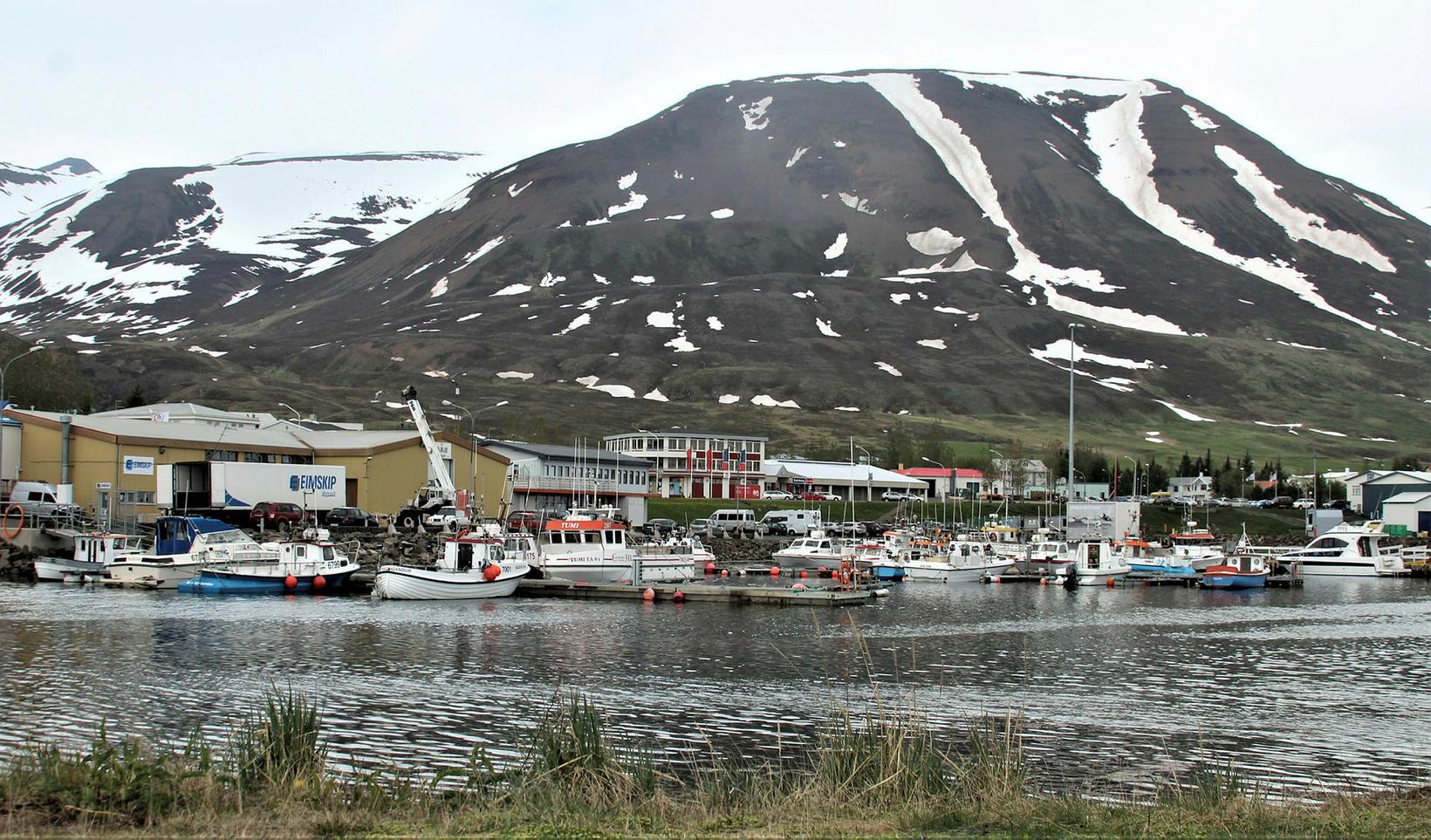 Dalvík við Eyjafjörð.