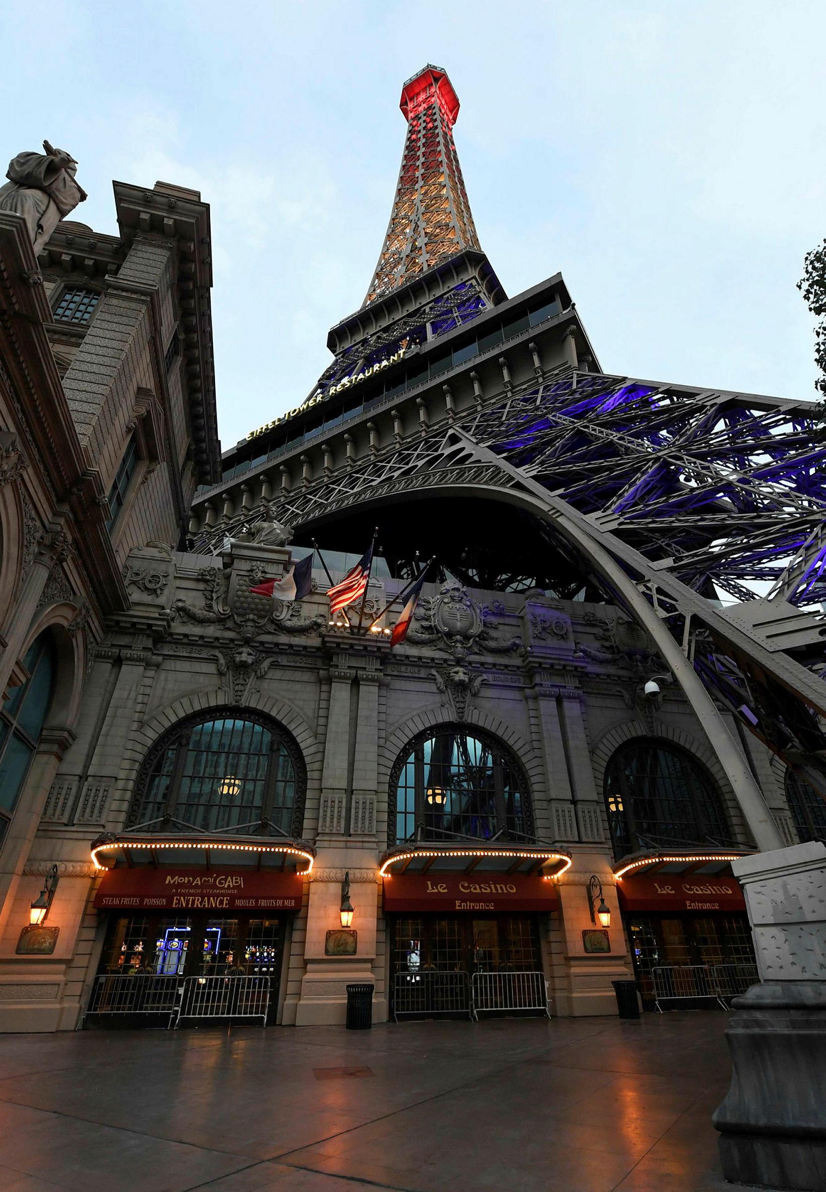 Ekkert að frétta við Eiffel-turninn í Las Vegas.