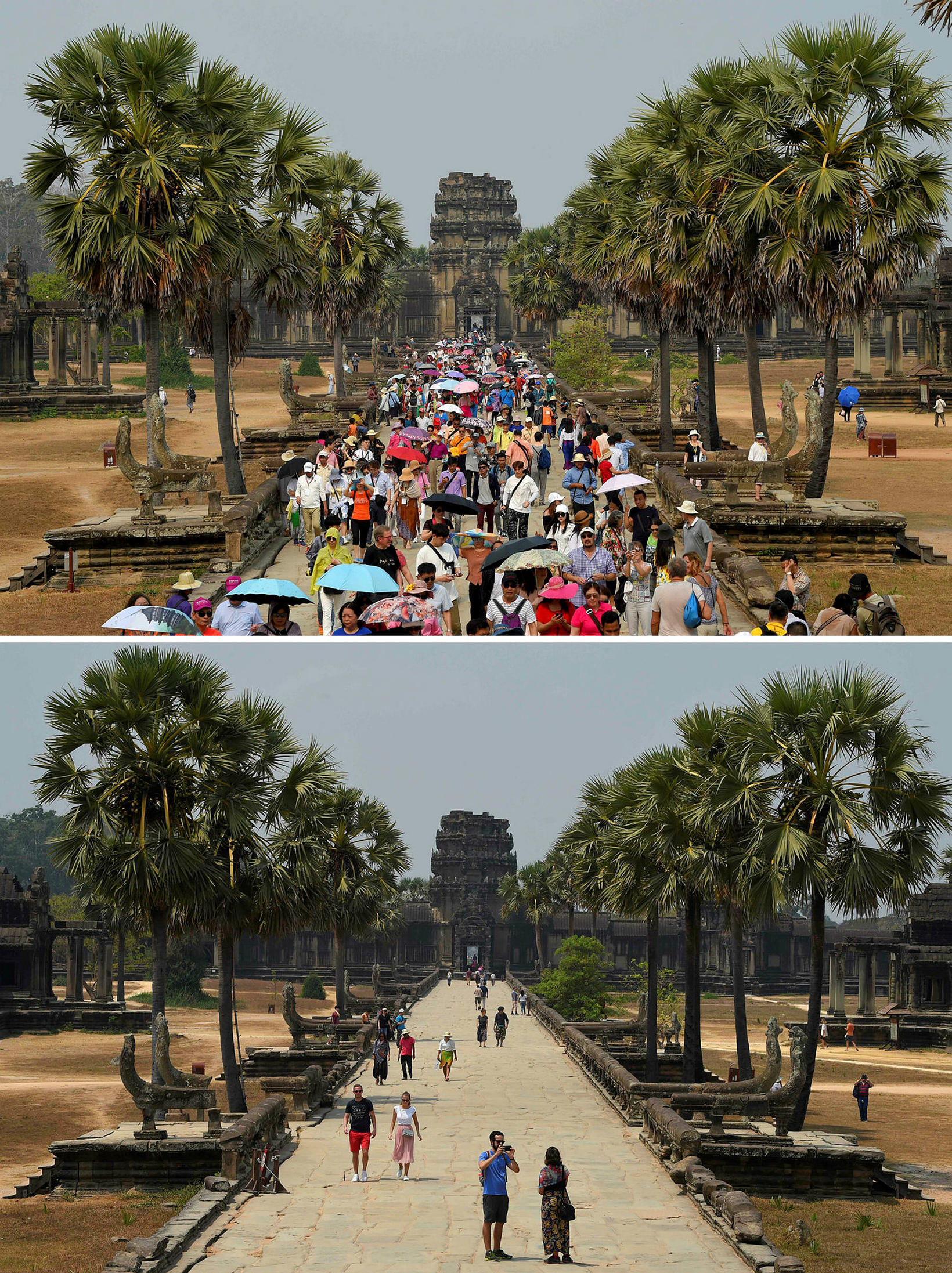 Angkor Wat í Kambódíu þann 16. mars 2019 og 5. …