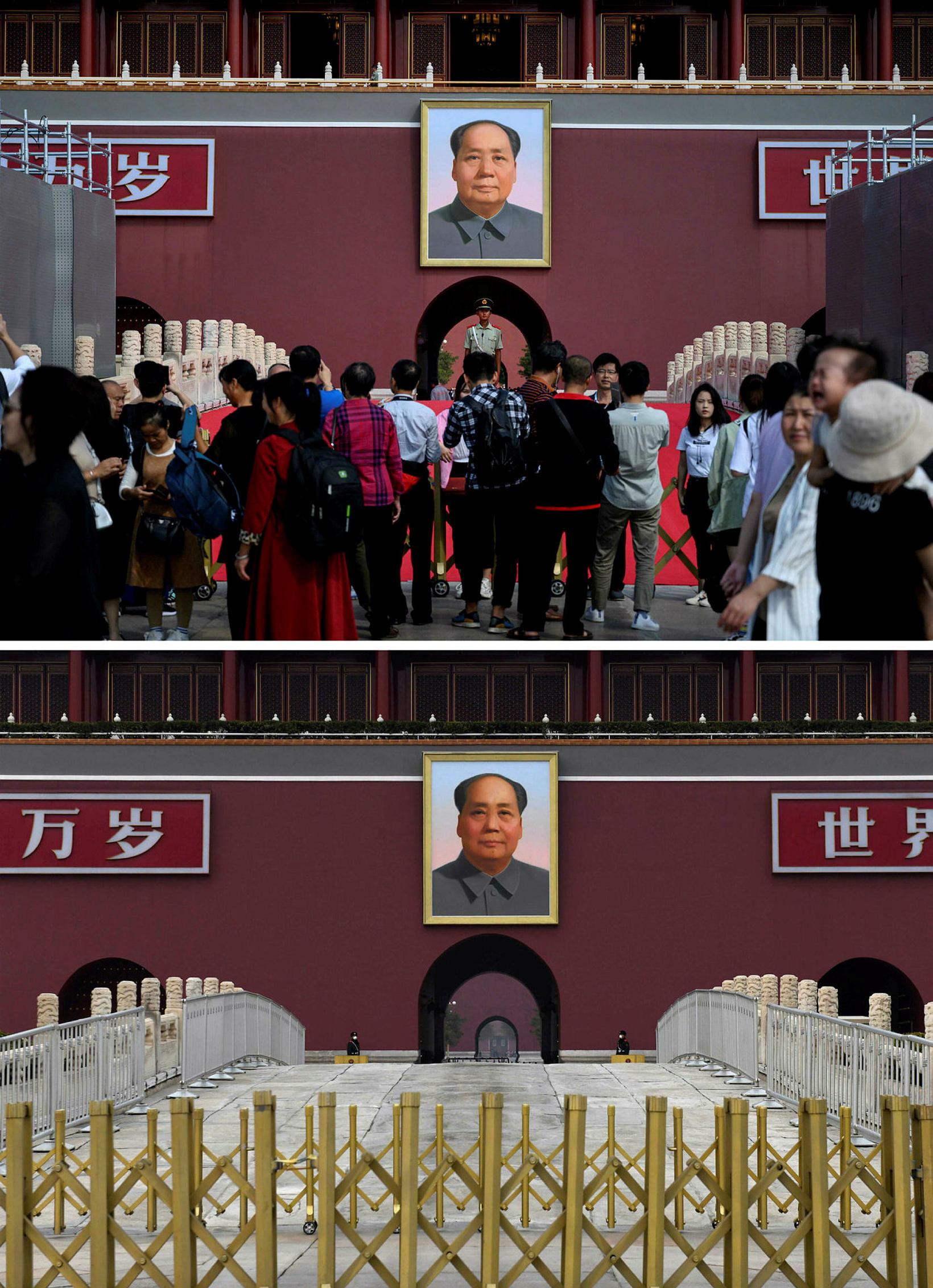 VIð Torg hins himneska friðar í Peking þann 20. september …