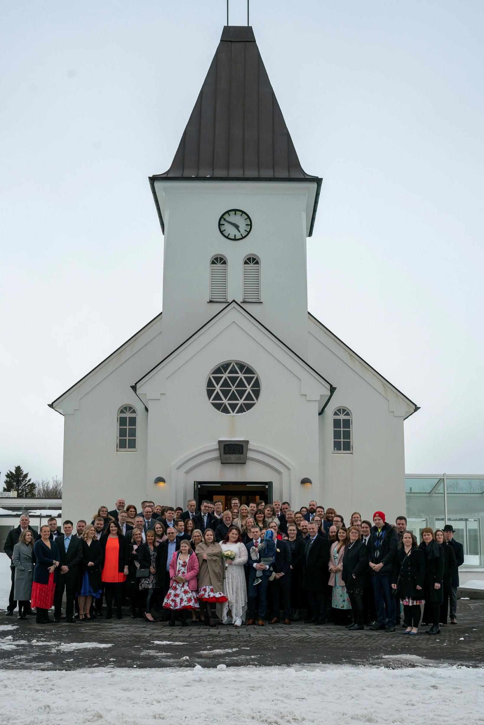 Sædís og Árni giftu sig í Keflavíkurkirkju.