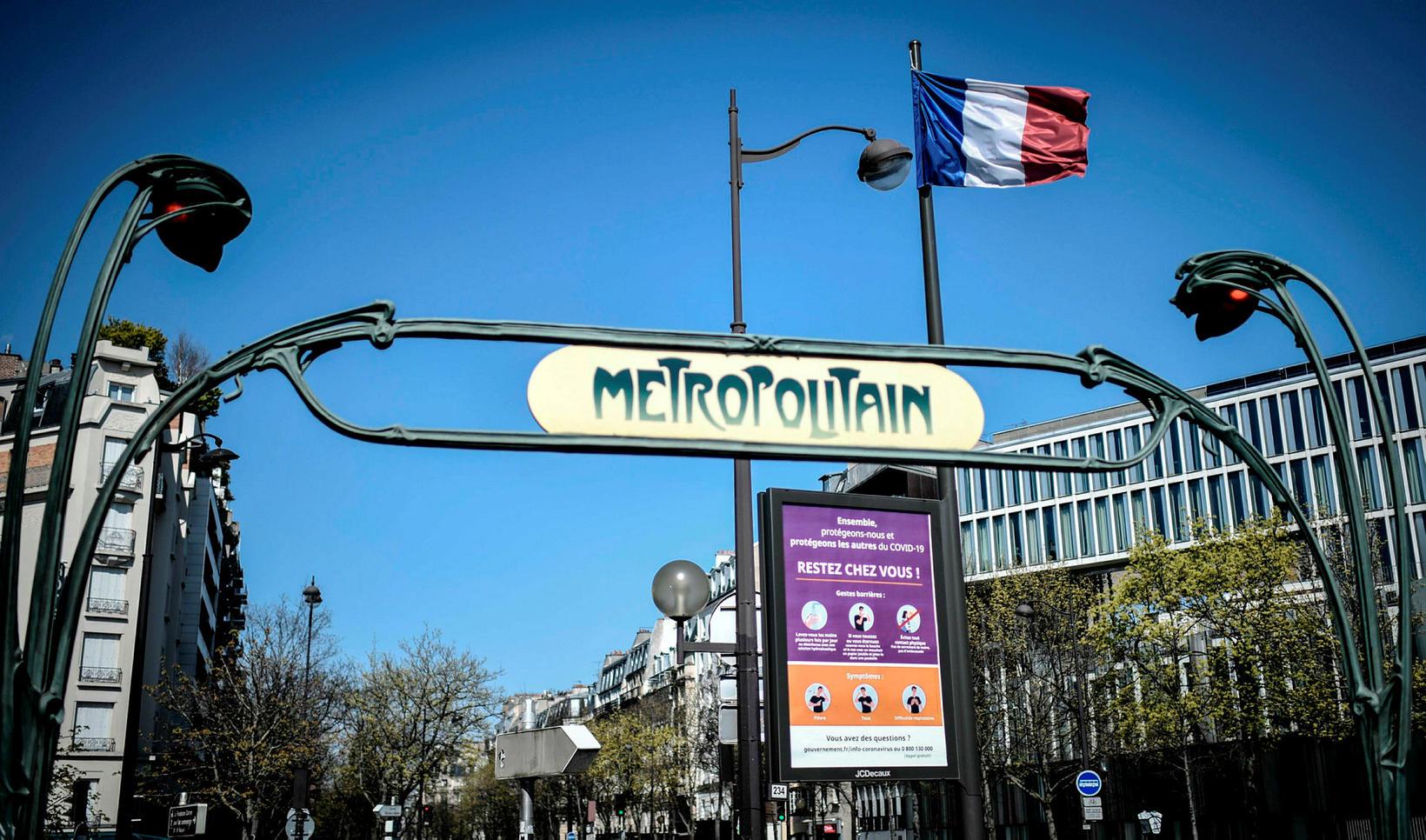 Métró í París.