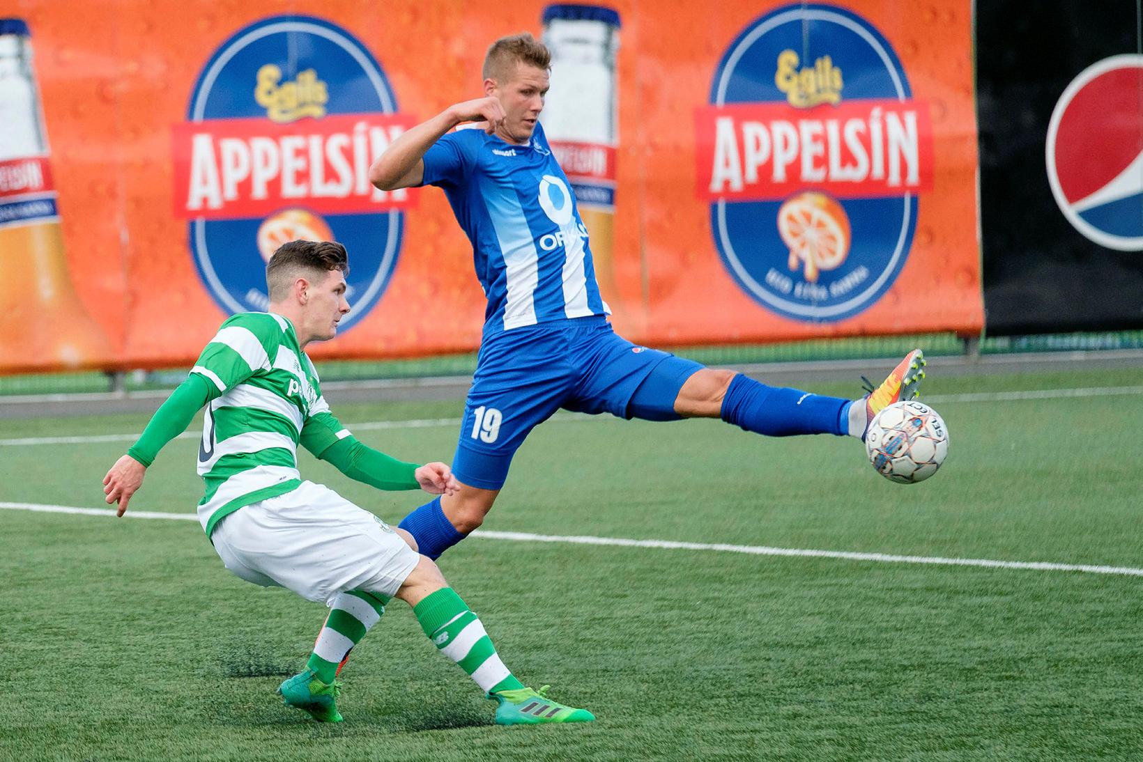 Hólmbert Aron Friðjónsson í Evrópuleik með Shamrock Rovers.