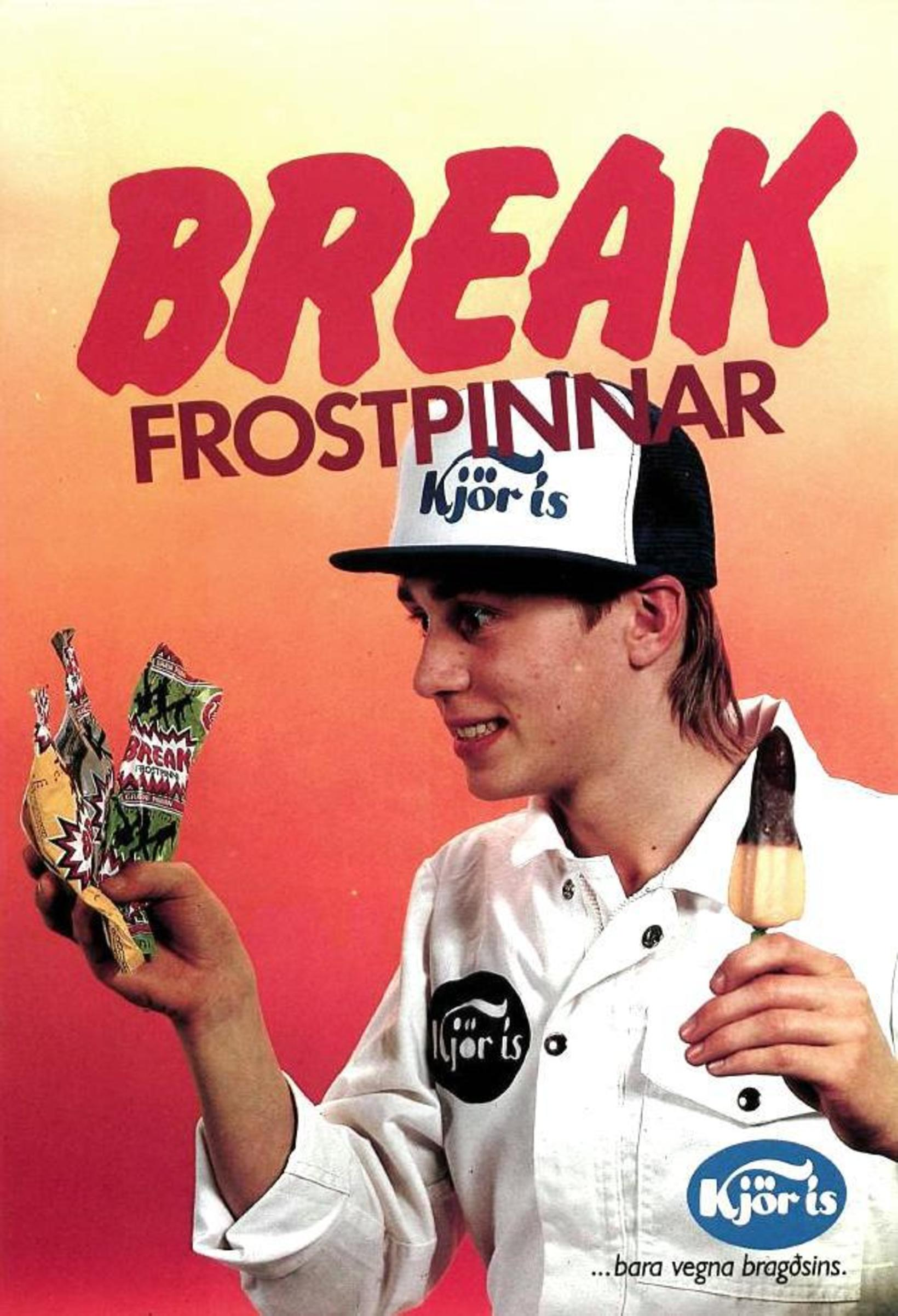 Break-frostpinninn frá Kjörís sem hætti í framleiðslu fyrir alllöngu var …