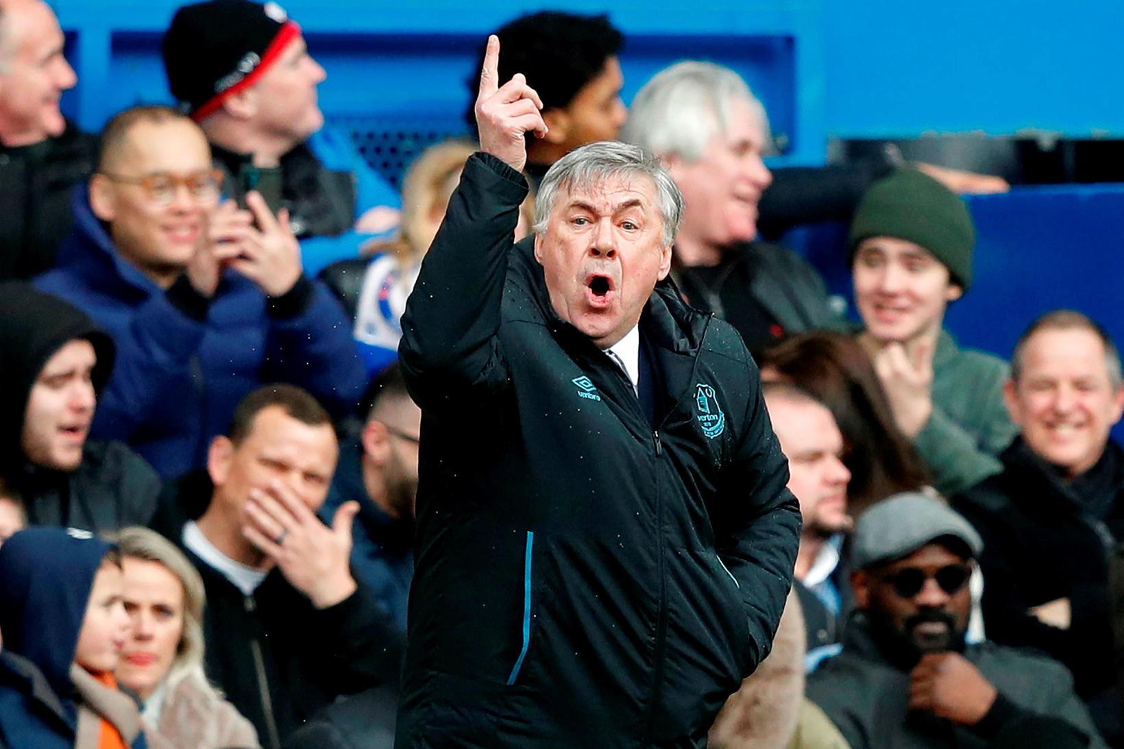 Carlo Ancelotti tók við stjórnartaumunum hjá Everton 21. desember síðastliðinn …