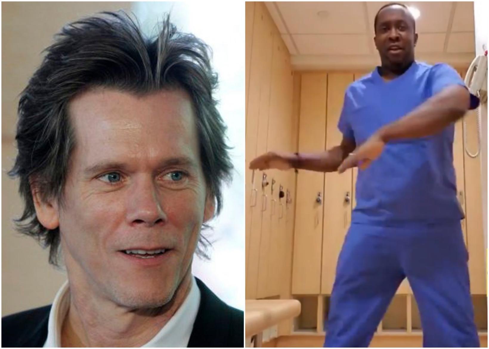 Kevin Bacon, sem fór með aðalhlutverkið í dansmyndinni Footloose, hrósaði …