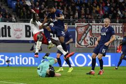 Frá leik Tottenham og Leipzig í Meistaradeildinni.