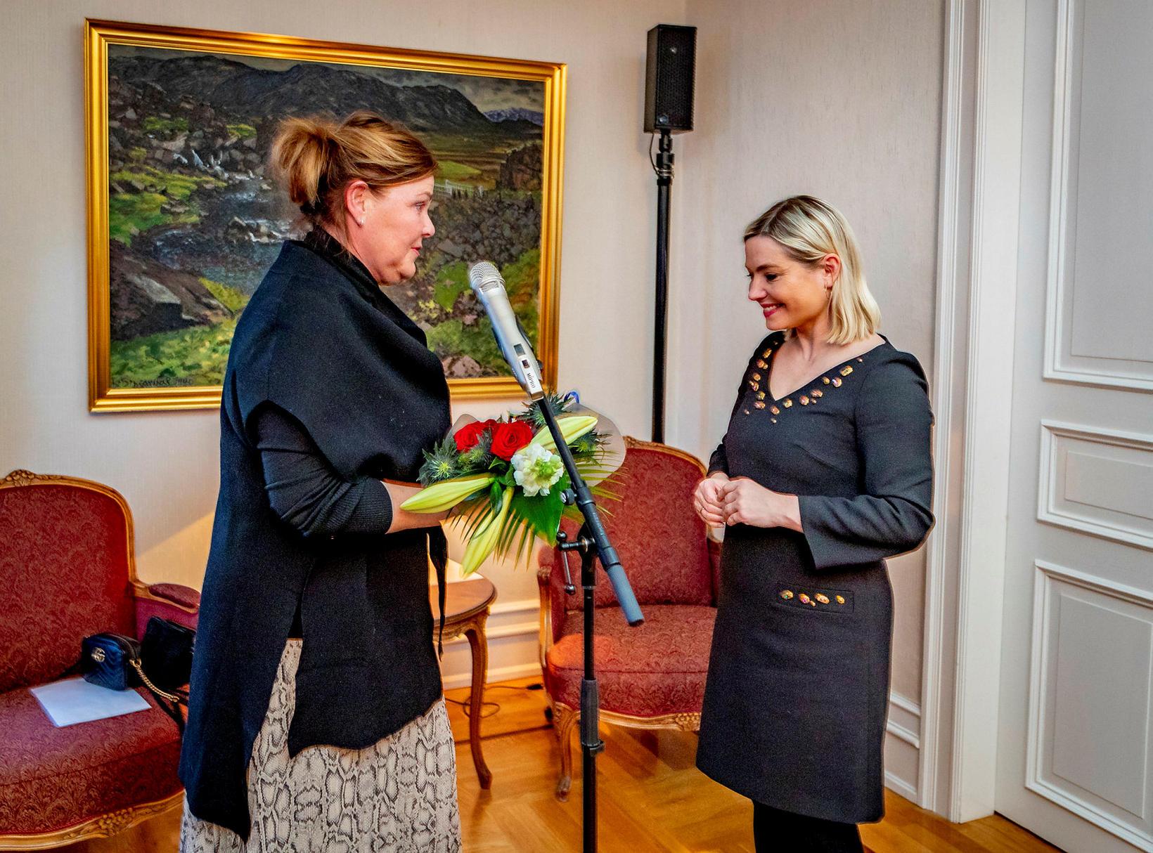 Hanna Lára Helgadóttir og Lilja Dögg Alfreðsdóttir.