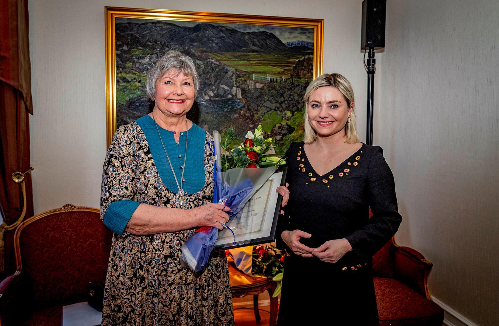 Guðrún Pétursdóttir og Lilja Dögg Alfreðsdóttir.