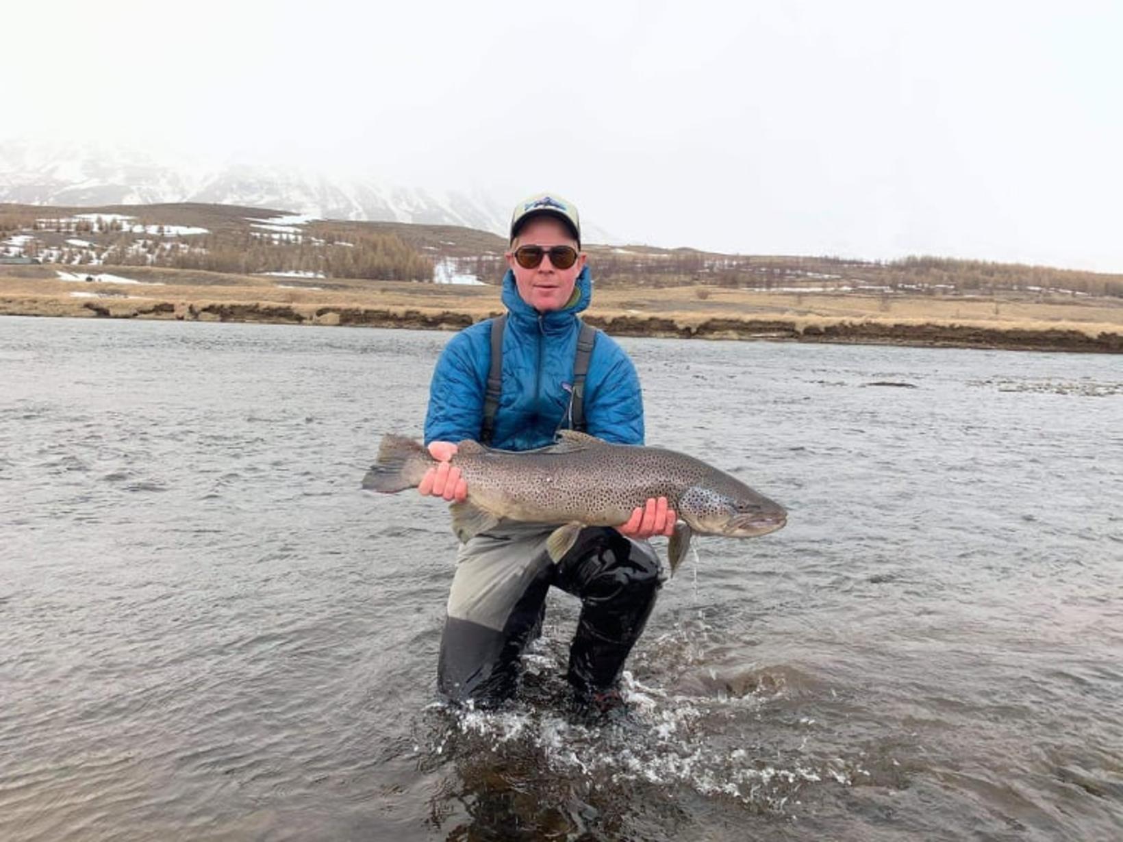 Stefán Hrafnsson landaði þessum glæsilega fiski upp á svæði þrjú …