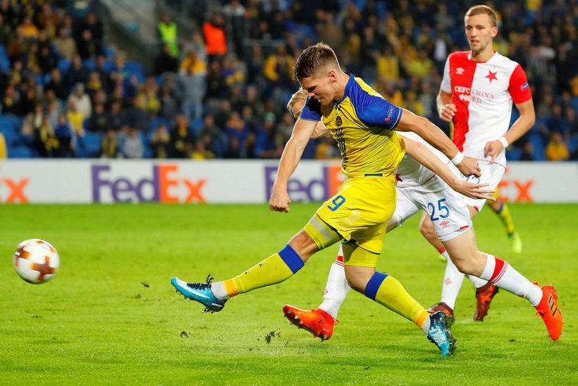 Viðar Örn Kjartansson í leik með Maccabi Tel Aviv.