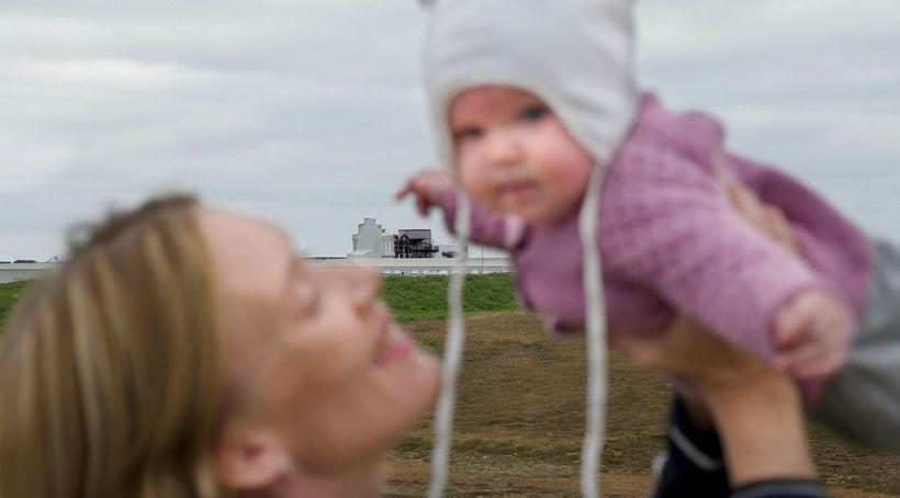 Elva Sif Gretarsdóttir og dóttir hennar, Bríet Erla, búa í ...