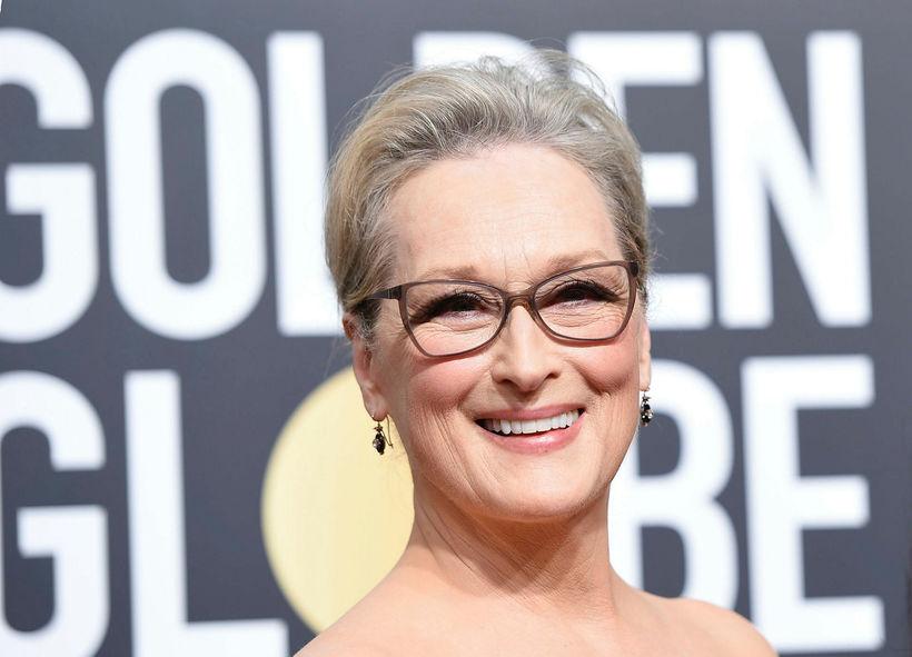 Meryl Streep gráhærð.