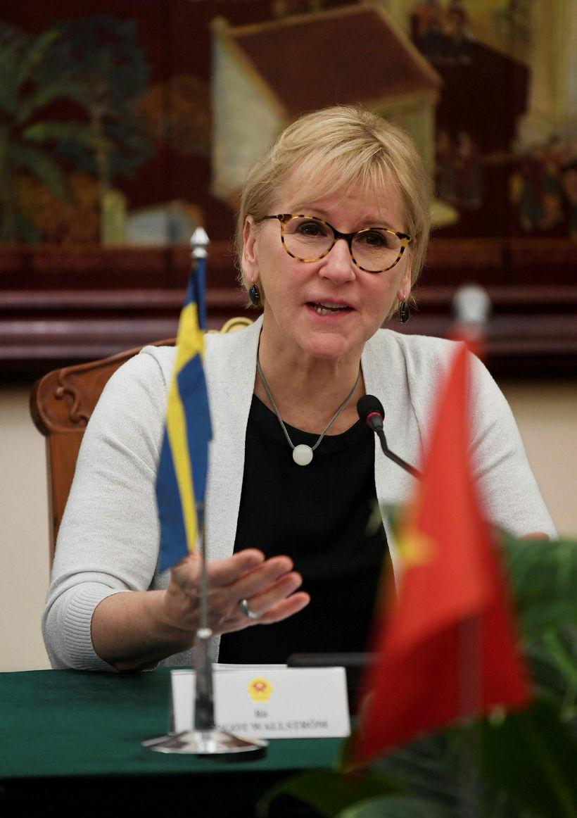 Margot Wallström, utanríkisráðherra Svíþjóðar.
