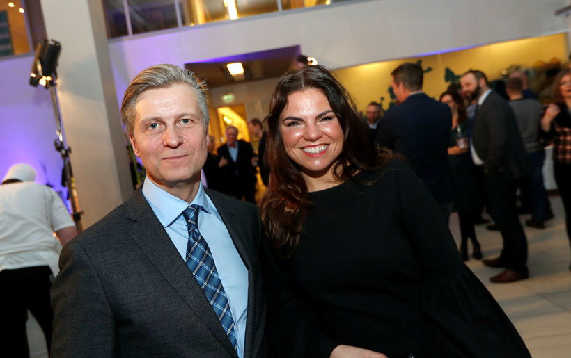 Eyþór Arnalds og Marta María Jónasdóttir.