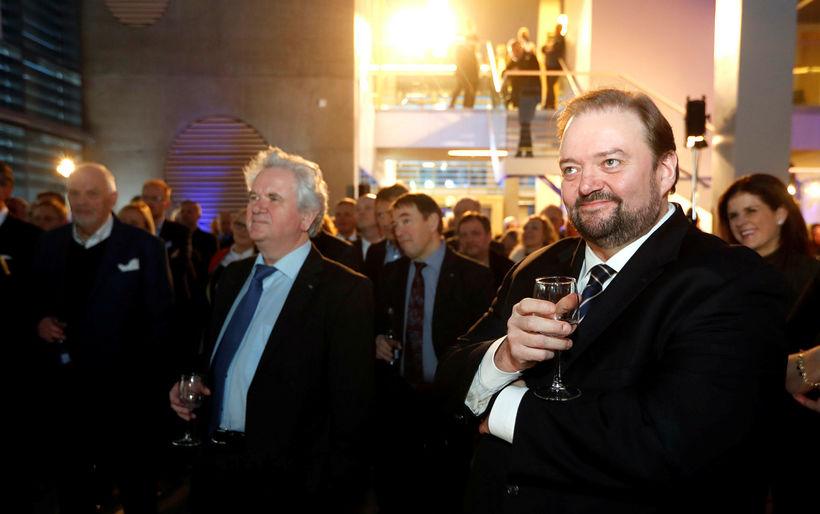 Davíð Oddsson og Haraldur Johannessen, ritstjórar Morgunblaðsins.