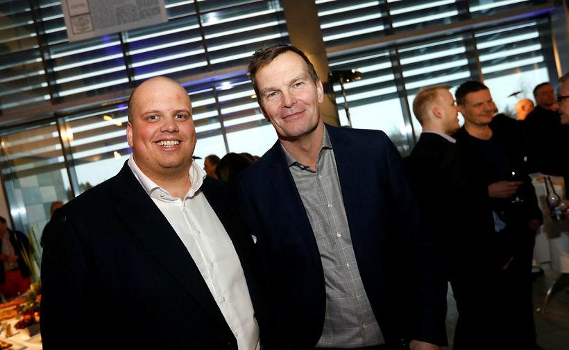 Siggi Gunnars og Logi Bergmann Eiðsson.