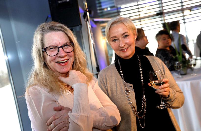 Agnes Bragadóttir og Guðlaug Sigurðardóttir.