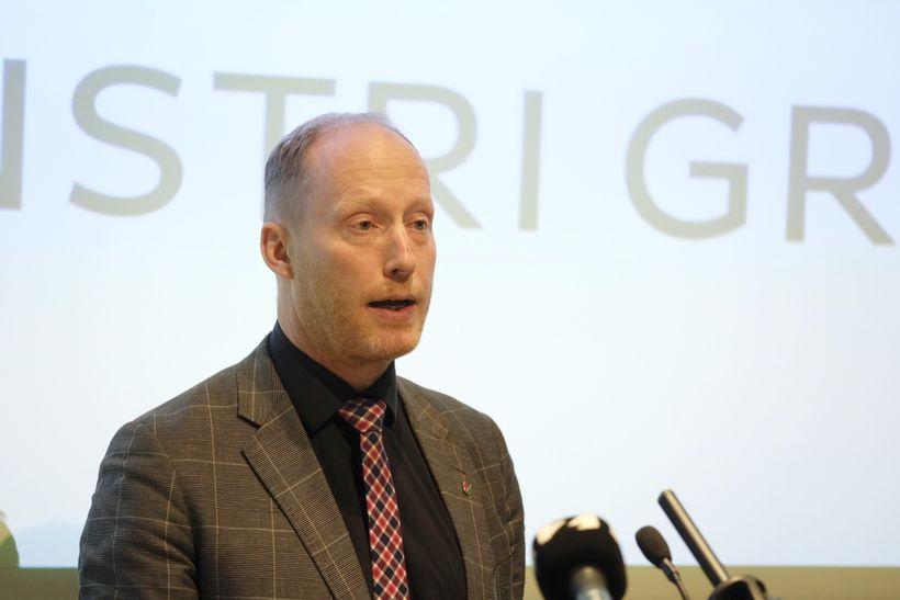 Flokksráðsfundur VG. Edward Huijbens.