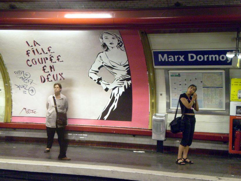 Marx Dormoy-lestarstöðin í París.