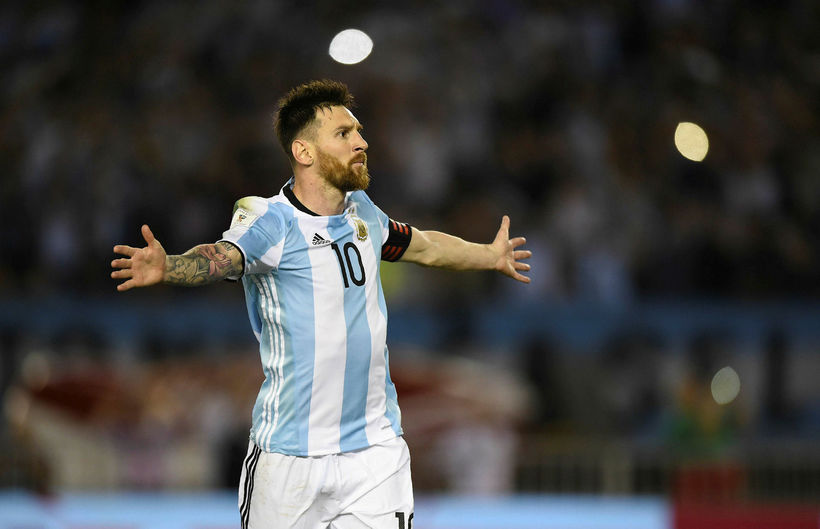 Lionel Messi er fyrirliði argentínska landsliðsins sem mæti Íslendingum á ...