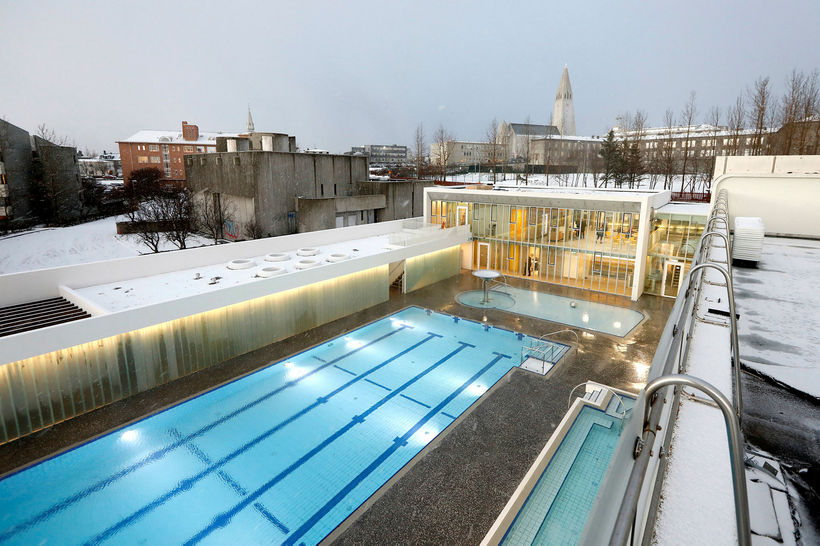 The new part of swimming pool Sundhöll Reykjavíkur.