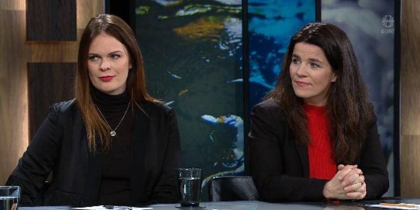 Björt Ólafsdóttir, formaður Bjartrar framtíðar og Helga Vala Helgadóttir, þingmaður ...
