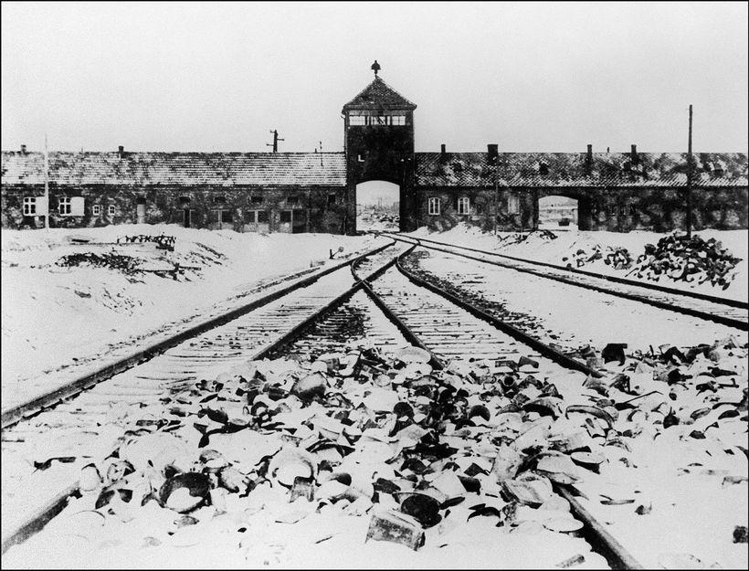 Svona var umhorfs við útrýmingarbúðir nasasta í Auschwitz í janúar ...