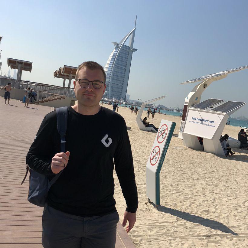 Jón Bragi Gíslason í Dubai.